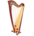 Teifi Harp SiffSaff34 Red Butterfly<蝶々>